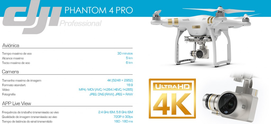 Aluguer Sonika Phantom Drone Cinema Film